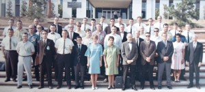 16 At Boeing Jet Proplusion Laboratory, Pasadena, CA  Katie front center late 1960s