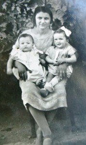 2 Popi and Nina with their nurse, circa 1927