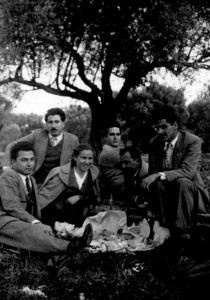 8 Dimtri with fellow university students in Athens during undergraduate studeies