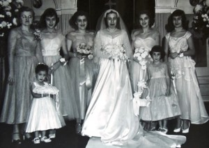 9 At friend Zoye's wedding, 1950s