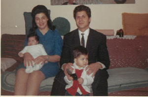 11 With babies Sophia and Aristides, 1967