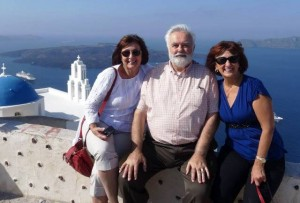 18 Deena, George and Mary in Santorini, 2014