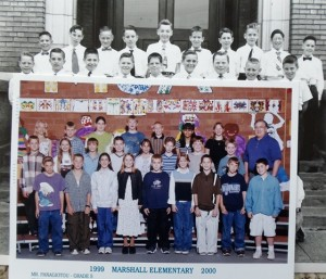 19 John in elementary School (circa 1950) and teaching (2000)