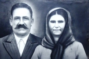 4 Maternal grandparents, Soterios and Marthesta, pencil drawing, circa