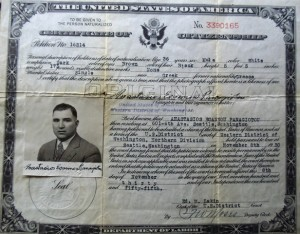 5 Tom's citizenship certificate, 1930