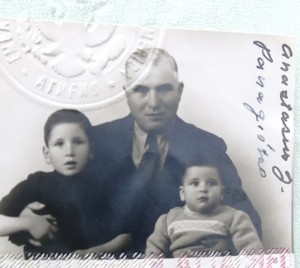 9 Passpost photo, John, Anastasios, Sam, 1946