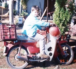 4 Ilias on a motorcycle, 1995