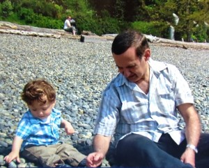 14 Alexandros and Christos at Alki Beach, 2014
