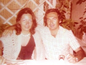 9 Kathy and Christos on their honeymoon, 1975