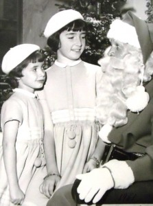 12 Katina and Alexandra with Santa Claus, 1961