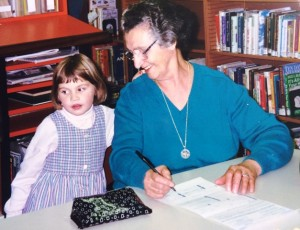 15 Granddaughter Anna with her yiayia, 1996