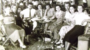3 Maria in Mandanissa (center in floral dress), circa 1951