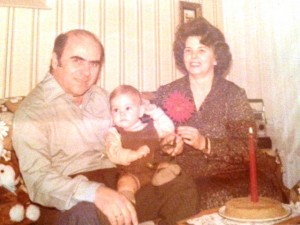 3 Tasos with grandparents, 1980