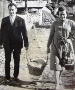 6 Athanasios and Eleni bring Maria home in a basket, 1958