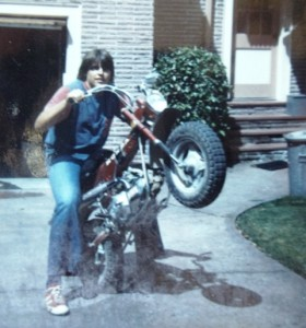 16 Jim on a motorcycle, 1975