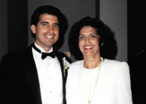 19 DAVID AND MOTHER (MARY BEHAR) 1988
