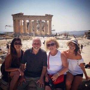 22 Greg with Wendy and girls ( Allison and Lauren in Greece