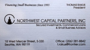16 Northwest Capital business card