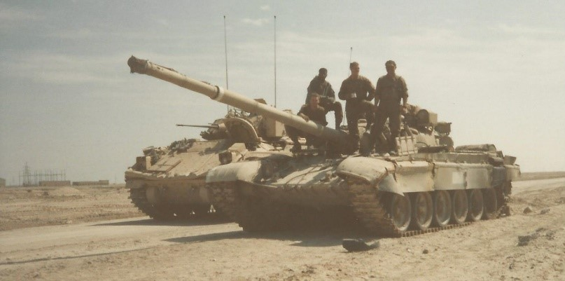 Gus and his Bradley crew with captured T-72 tank