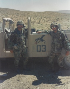 Gus and Marco Vialpando at the NTC in the Mojave Desert